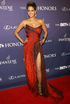 The 24th Women of the Week 2014 Halle Berry on the red carpet at the BET Honors