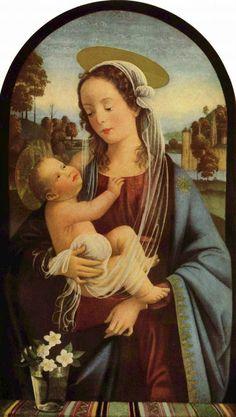 Domenico Ghirlandaio (1449-1494) ~ Madonna ~ 1473 ~ Fresco ~ Ognissanti, Florence.