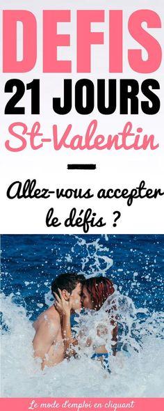 Quand on est en couple, c'est tout naturel d'avoir des hauts et des bas. Peut-être qu'avec le travail, les amis et la famille, vous ne vous souvenez même pas de la dernière fois où vous avez dit des petits mots d'amour à votre partenaire. Quoi qu'il en soit, nous sommes ici pour vous mettre au défi, vous et votre partenaire, avec un challenge Saint-Valentin de 21 jours. Ce challenge Saint-Valentin a été créé par Fawn alias The Mrs. #challenge #défis #saintvalentin #chasseursdastuces