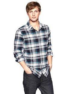 Flannel plaid shirt | Gap