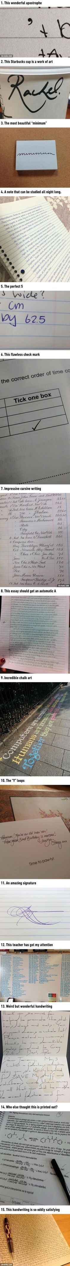 Pieces Of Handwriting That Are So Satisfying. I really need to work on my handwriting. These are so amazing. Satisfying Pictures, Oddly Satisfying, Satisfying Things, Make Me Happy, Make Me Smile, Image Swag, John Johnson, Geeks, Mind Blown