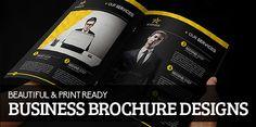15 Beautiful Print Ready Business Brochure Designs