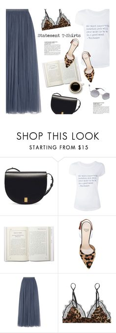 """""""T-shirts"""" by magdafunk ❤ liked on Polyvore featuring Victoria Beckham, Zadig & Voltaire, Francesco Russo, Needle & Thread, LoveStories, McGinn, Ray-Ban, maxiskirt, LeopardPrint and roundsunglasses"""