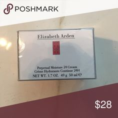 Elizabeth Arden Perpetual Moisture 24 Cream 1.7 oz 24-hour hydration, continuous comfort for dry skin types. NIB sealed Other