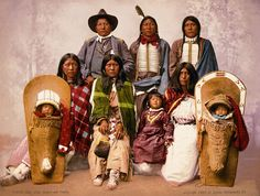Chief Severno and family photogrpahed in 1899. Chief Severno was an Indian policeman in Colorado.
