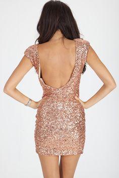 One day I will own a well made squid dress!  D Carmen Rose Gold Sequin Dress d3f4e00b725f