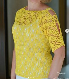 Backless Lace Wedding Dress, Lace Mermaid Wedding Dress, Crochet Cardigan, Knit Crochet, Diy Clothes Jeans, Easy Knitting, Short Tops, Crochet Clothes, Crochet Patterns