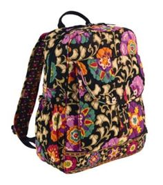 Vera Bradley Bookbag in Suzani -- Want to know more, click on the image.(This is an Amazon affiliate link and I receive a commission for the sales)