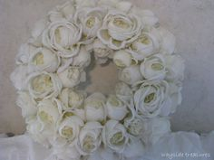 coffe filter and silk roses wreath <3 and a great website.