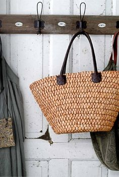 Every girl should have a straw tote bag.  Goes with everything.