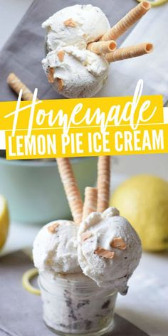 A summertime favorite that is so easy to make and perfect for summer holidays and barbecues! If you love lemon recipes and desserts, try this Lemon Ice Cream Recipe! Lemon Ice Cream, Ice Cream Pies, Ice Cream Desserts, Strawberry Desserts, Lemon Desserts, Lemon Recipes, Frozen Desserts, Ice Cream Recipes, Delicious Desserts