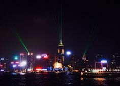 Symphony of Lights @ Avenue of Stars, Hong Kong. Minecraft Enchantments, Laser Show, Most Beautiful Cities, Cn Tower, Empire State Building, Hong Kong, Lights, Explore, Stars
