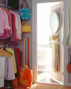 "I like the mirror idea for my closet.  See the ""Closet Pegboard"" in our Bedroom Organizers gallery"