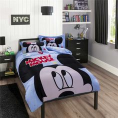 lotti-poppi.com > Preiswert günstig Kinderbett 3D Bettwäsche Disney Cartoon Druck Mickey Mouse blau Bedding Sets Bettset online kaufen