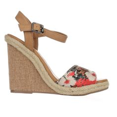 Dolce by Mojo Moxy Posey Espadrille Wedge Sandals, Black    #sandals #heels #wedges #floral #floralprint #flowers #espadrilles #spring #springstyle #springfashion #girly #cute #shoes #shopping #style #trend #fashion #womensfashion #retail #love #picnic