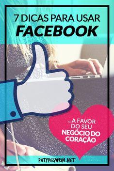 """Que tal utilizar o Facebook como uma ferramenta que trabalha a favor do seu negócio do coração?  Sabe, uma das dúvidas mais frequentes sobre Facebook e Fanpages é:  """"Como utilizar o facebook para conseguir mais vendas?""""  No vídeo do post compartilharei contigo algumas coisas sobre isto que aprendi em minha caminhada. Vamos juntos?  http://patypegorin.net/facebook-negocio/"""