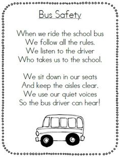 Free Bus Safety Follow Up Sheet. | *Fun stuff for school ...