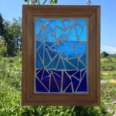 Now this is a great idea for using old frames and I hadn't thought of it.  For stepping stone molds, for stained glass, for pressed leaves, serving trays, mirrors, windows, mosaics, rock mosaics, garden art,  chalkboard, empty for a window to the world....