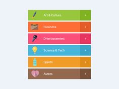 Add Categories - Flat