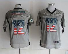 2e52ff52a Green Bay Packers 12 Rodgers USA Flag Fashion Grey Shadow 2014 New Nike  Elite Jerseyscheap nfl jerseys