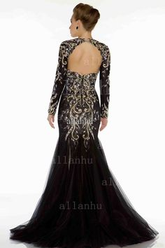 2013 Women Pageant Dresss New Sexy Long Sleeves Mermaid Colorful Beadings Applique Crystals Dresses Stuning Evening Gown Prom Dress 81898D