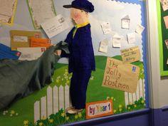 The jolly postman display Year 1 Classroom, Ks2 Classroom, School Songs, School Themes, Ways Of Learning, Preschool Learning Activities, School Displays, Classroom Displays, Jolly Christmas Postman