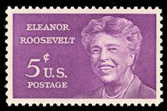 US stamp honoring Eleanor Roosevelt