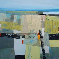 "Turning Place by Andrew Bird | Acrylic on canvas | 20"" x 20"" #andrewbird #tannerandlawson #cornwall #abstractart"