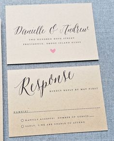 NEW Danielle Calligraphy Script Recycled Kraft by CricketPrinting