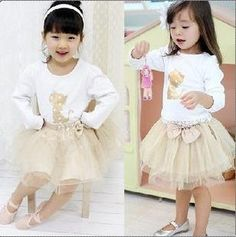 We don't normally sale children's clothes but as friend as a few dresses left and wondered if we could post a picture to see what you all think. £14.99 + postage. In stock and ready for dispatch     Golden Kitten Tshirt and Short Skirt very sweet,     Sizes left   1 x age 2-3  1 x age 3-4   1 x 5-6   1 x 6-7   1 x 8-9
