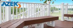 azek decking | bench detail www.ladukeconstruction.com Decking, Patio Design, Bench, Design Inspiration, Gardens, Yard, Outdoors, Detail, Building