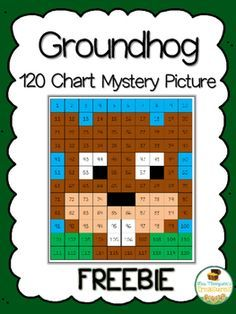 """Groundhog Day Freebie  Hey friends! I want to share with you my newest mystery picture perfect for Groundhog Day! This cute little guy is created when students use the key to color in numbers on a 120 chart. It's a great activity to start a discussion about groundhogs and what the day is about. You can also pair it with a writing activity such as """"Do you think the groundhog will see his shadow today?"""" Or """"Would you rather have an early spring or six more weeks of winter?""""    Get this free…"""