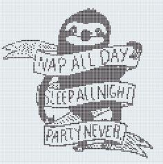 Sloth Cross Stitch