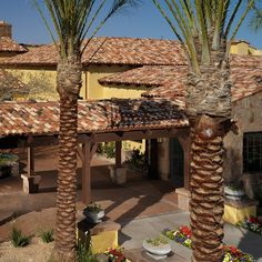 Inspiration by Boral Roofing: Imagine life in this hacienda. Commercial Roofing, Spanish Style, Sangria, Pergola, Beautiful Places, Outdoor Structures, Inspired, Usa, Architecture