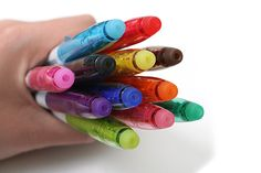 Pilot FriXion Colors Erasable Marker - 12 Color Set These erasable markers write in vibrant colors yet erase wonderfully through heat created from friction. Just rub the rubber end over the ink to make it transparent, and you can write on the same area again and again!
