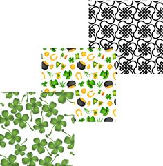 Patrick's Day Patterned Vinyl Set - Custom Printed Oracal 651 Vinyl 12 x 12 inch sheets St Paddys Day, St Patricks Day, Vinyl Cutter Machine, Patterned Vinyl, St Patrick's Day Crafts, Custom Vinyl, Vinyl Crafts, Celtic Knot, Vivid Colors