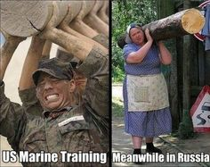 US Marine Training / Meanwhile in Russia