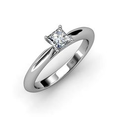 This is a Beautiful Four Prong Semi Mount Engagement Ring in 14K White Gold.Also available in 18K