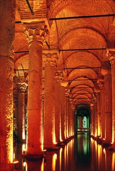 Istanbul, Turkey ( The Sunken Palace Illuminated, Basilica Cistern)