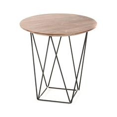 Showcasing a perfect mix of mediums for simplistic style, the Crosswire Side Table balances contemporary minimalism with bold style. The geometric steel legs create a statement without overpowering the...  Find the Crosswire Side Table, as seen in the #ElectricBoho Collection at http://dotandbo.com/collections/electricboho?utm_source=pinterest&utm_medium=organic&db_sku=102566