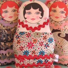 The inspiration for this pretty little fabric Matryoshka was the traditional wooden nesting doll