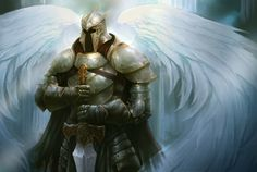 Angel Knight - Armour, Fantasy, Sword, Wings, Angel