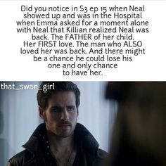 Um no...did you notice that when Neal asked for a moment alone with Emma, she looked at Hook, basically asking if it was okay?
