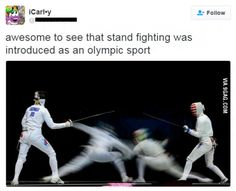 Stand fighting is Olympic sport now!