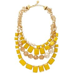 Treasure Chest Statement Necklace ($192) ❤ liked on Polyvore