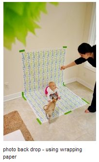 homemade photo backdrops using wrapping paper