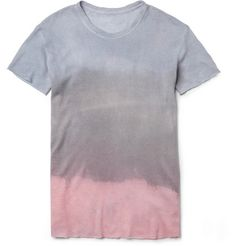 The Elder Statesman Hand-Dyed Cashmere and Linen-Blend T-Shirt | MR PORTER