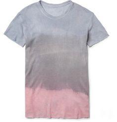 The Elder StatesmanHand-Dyed Cashmere and Linen-Blend T-Shirt|MR PORTER ($455.00) - Svpply