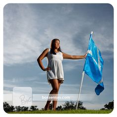 This is Makayla! A funway to show off her Color Guard passion! Great cloud day in Oklahoma!