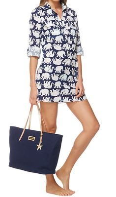 Lilly Pulitzer Captiva Tunic Cover-Up in Tusk In Sun. Lovely little Republican beach outfit :)